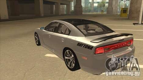 Dodge Charger RT Daytona 2011 V1.0 для GTA San Andreas вид сзади