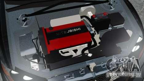 Mitsubishi Lancer Evolution VII Freestyle для GTA 4 вид изнутри