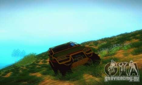 УАЗ Патриот Пикап для GTA San Andreas вид сзади