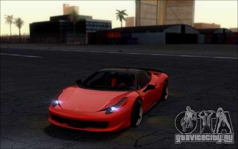 Ferrari 458 Italia Novitec Ross для GTA San Andreas вид сзади слева