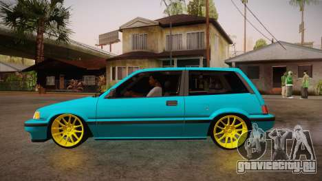 Honda Civic SI Hellaflush для GTA San Andreas вид слева