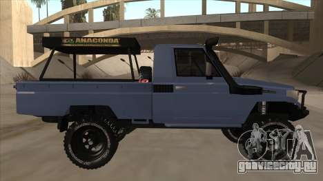 Toyota Machito Pick Up 2009 для GTA San Andreas вид сзади слева
