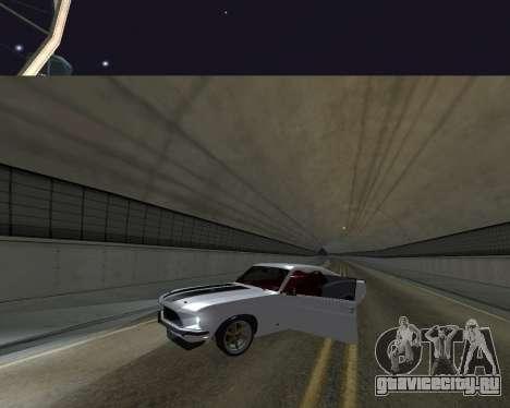 Ford Mustang Anvil для GTA San Andreas вид сзади