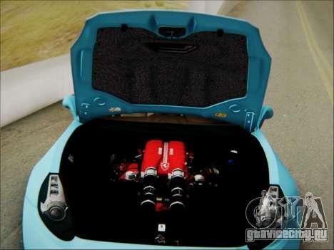 Ferrari California 2009 для GTA San Andreas вид снизу