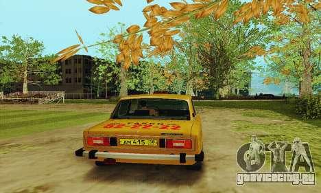 ВАЗ 2106 Такси для GTA San Andreas вид справа