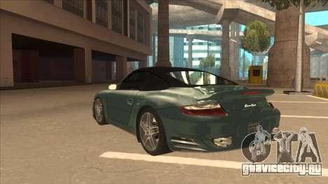 Porsche 911 Turbo Cabriolet 2008 для GTA San Andreas вид сбоку
