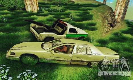 Buick Roadmaster Разбитый для GTA San Andreas вид сзади
