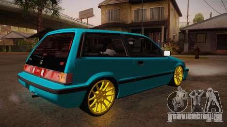 Honda Civic SI Hellaflush для GTA San Andreas вид справа