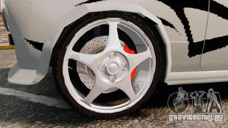 Fiat 124 Tuning для GTA 4 вид сзади