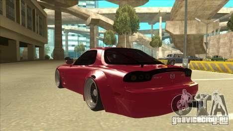Mazda RX7 FD3S Rocket Bunny для GTA San Andreas вид сзади
