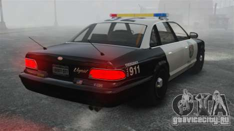Полицейский Cruiser GTA V для GTA 4 вид сзади слева