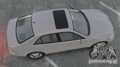 Lexus IS300 для GTA 4 вид справа
