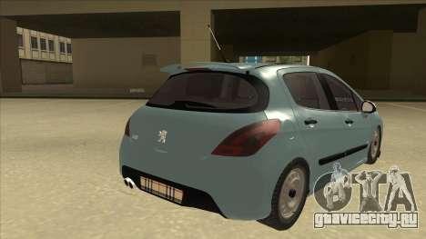 Peugeot 308 Burberry Edition для GTA San Andreas вид справа