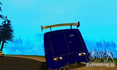 ИЖ 2715 Novosib Tuning для GTA San Andreas вид сзади