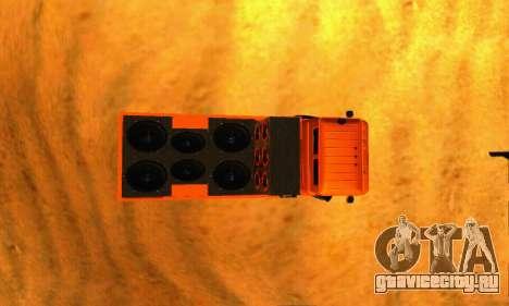 ГАЗ 66 Кавказ для GTA San Andreas вид сзади