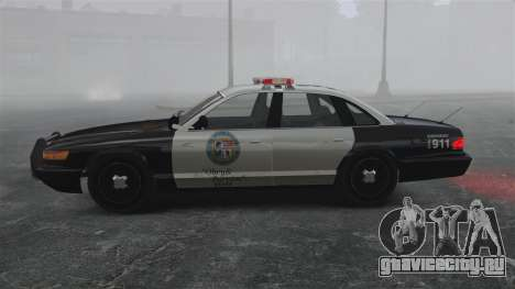Полицейский Cruiser GTA V для GTA 4 вид слева