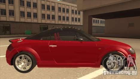 Audi TT Coupe BiMotor Black Revel для GTA San Andreas вид сзади слева