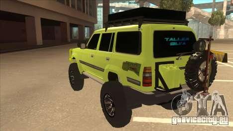 Toyota Land Cruiser для GTA San Andreas вид сзади