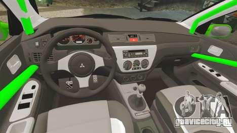 Mitsubishi Lancer Evolution VII Freestyle для GTA 4 вид сбоку