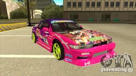 Nissan Silvia S13 Team Burst для GTA San Andreas вид слева
