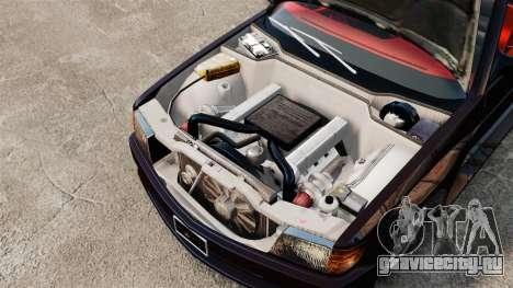 Mercedes-Benz C126 500SEC для GTA 4 вид сзади