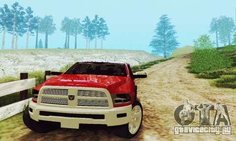 Dodge Ram 2500 HD для GTA San Andreas вид изнутри