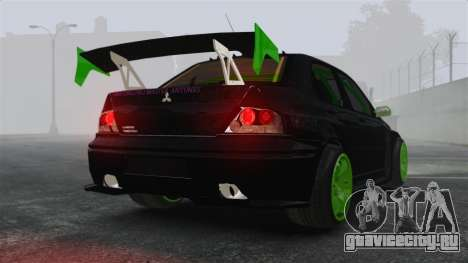 Mitsubishi Lancer Evolution VII Freestyle для GTA 4 вид сзади слева