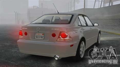 Lexus IS300 для GTA 4 вид сзади слева