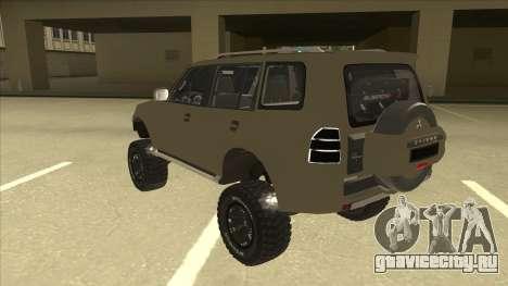 Mitsubishi Montero EDVARD [ERICK] для GTA San Andreas вид сзади