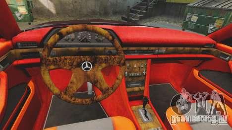 Mercedes-Benz C126 500SEC для GTA 4 вид изнутри