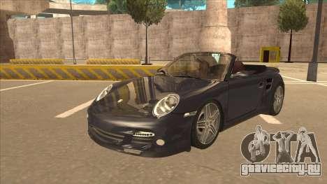 Porsche 911 Turbo Cabriolet 2008 для GTA San Andreas