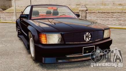 Mercedes-Benz C126 500SEC для GTA 4