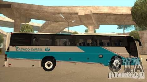 Zaibee Daewoo Express Coach для GTA San Andreas вид сзади слева
