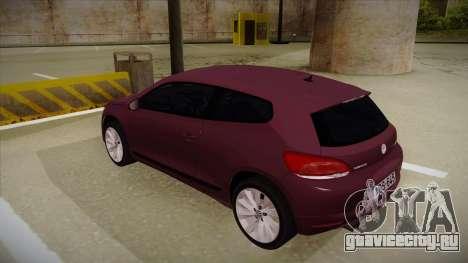 Volkswagen Scirocco для GTA San Andreas вид сзади