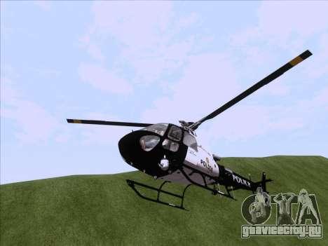 Police Maverick GTA 5 для GTA San Andreas вид справа