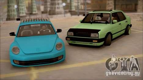 VW Jetta MK2 для GTA San Andreas вид справа