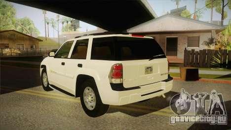 Chevrolet Trail Blazer для GTA San Andreas вид сзади слева