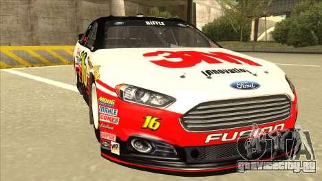 Ford Fusion NASCAR No. 16 3M Bondo для GTA San Andreas вид слева
