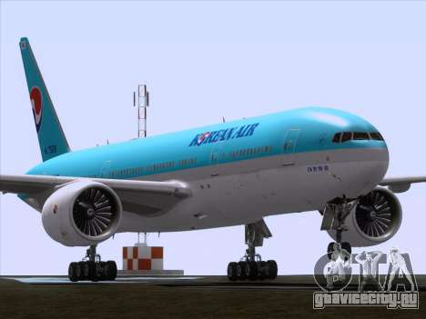Boeing 777-2B5ER Korean Air для GTA San Andreas вид слева
