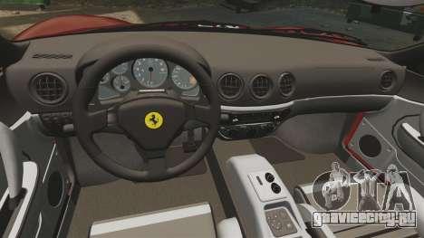 Ferrari 360 Spider 2000 [EPM] для GTA 4 вид сбоку