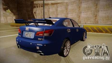 Lexus IS F V1 для GTA San Andreas вид справа