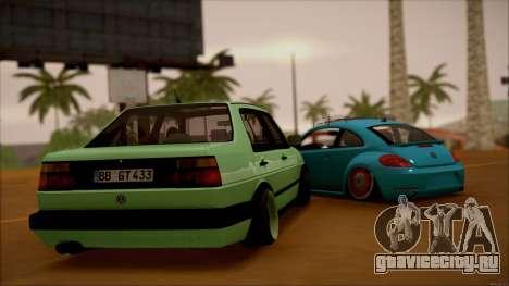 VW Jetta MK2 для GTA San Andreas вид сзади слева