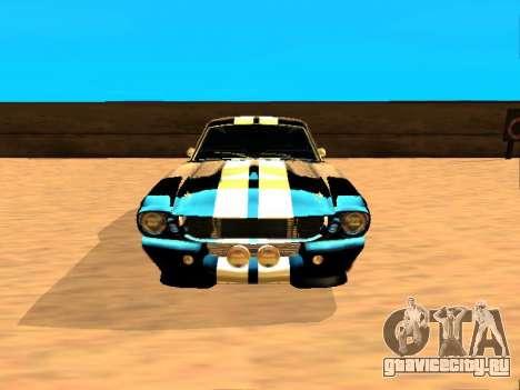 Ford Shelby GT-500E Eleanor для GTA San Andreas вид слева