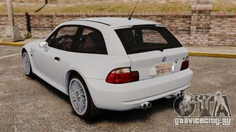 BMW Z3 Coupe 2002 для GTA 4 вид сзади слева