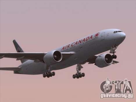 Boeing 777-200ER Air Canada для GTA San Andreas салон