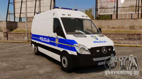 Mercedes-Benz Sprinter Croatian Police v2 [ELS] для GTA 4