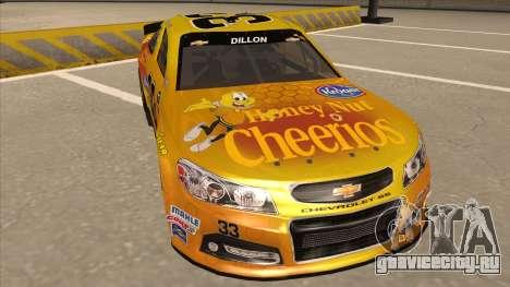 Chevrolet SS NASCAR No. 33 Cheerios для GTA San Andreas вид слева