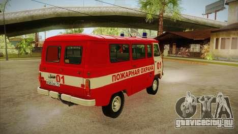 UAZ 452 Пожарный штабной для GTA San Andreas вид справа