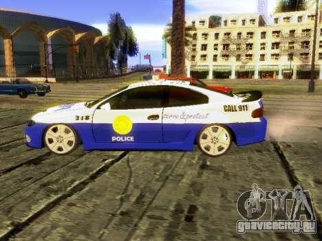 Pontiac GTO Pursit Edition для GTA San Andreas вид слева