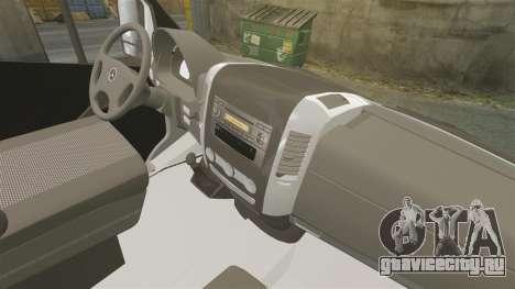 Mercedes-Benz Sprinter Croatian Police v2 [ELS] для GTA 4 вид сзади
